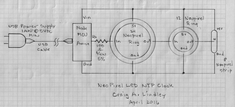 NeoPixel LED NTP Clock on